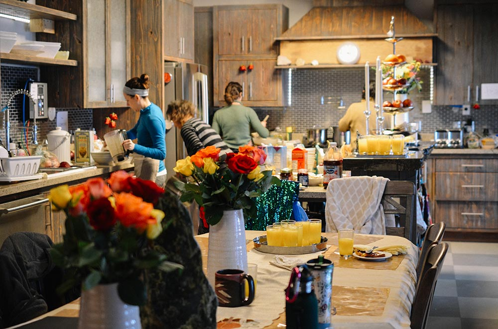 The kitchen is equipped with top of the line, Italian made, stainless-steel appliances, 2 dishwashers, a 6 burner stove with 2 ovens, a large granite topped kitchen island, alkaline water filter, and 3 woodburning fireplaces.